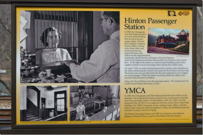 Hinton passenger station / YMCA marker.