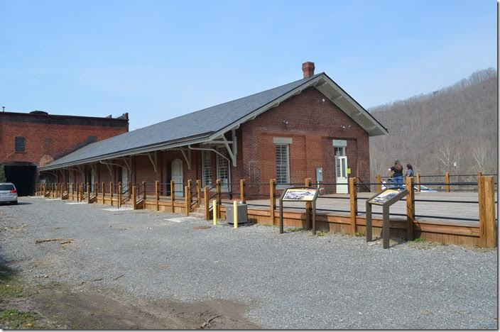 The former C&O freight station is now a community building and used as a flea market. Hinton WV.