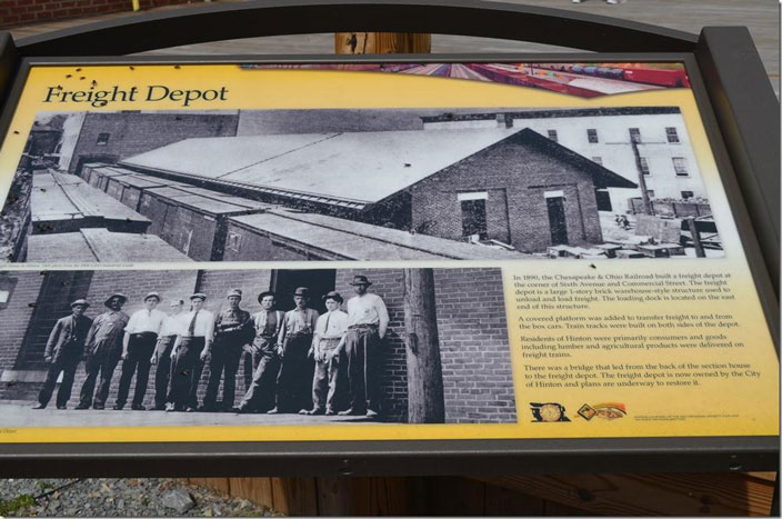 We headed up town to visit the antique stores. But later... Freight depot marker. Hinton WV.