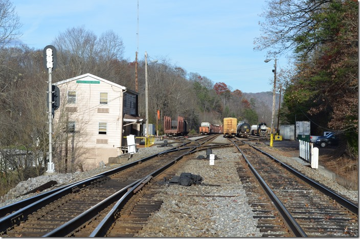 NS Frisco Yard Office looking westbound toward Andover. Frisco TN.