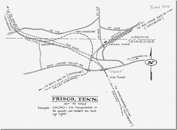 Ron Flanary drew this excellent map to help understand the Frisco area.