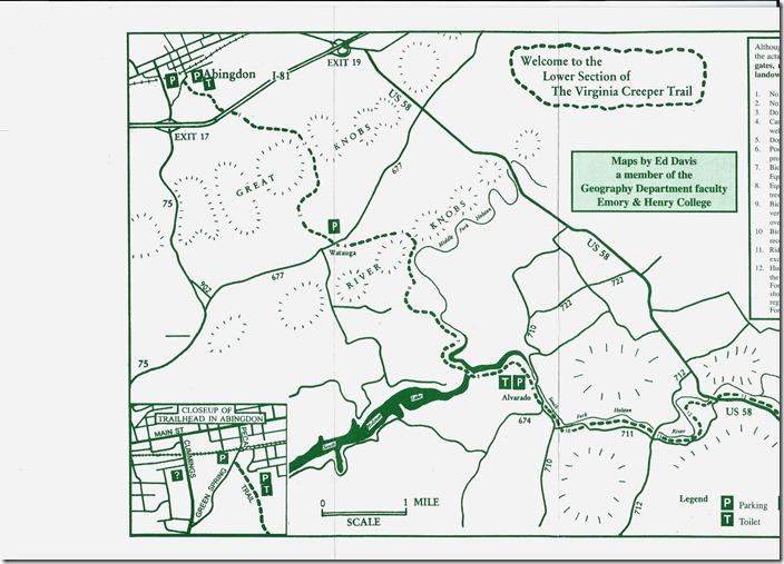 Abingdon Virginia Map.Csxths Rail Fanning N W Exploring The Virginia Creeper Trail